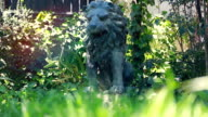 Statue of a Lion in the Garden video