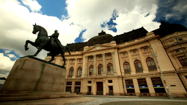 Statue Of King Carol I Of Romania video