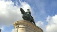 Statue of King John I - time lapse – Lisbon, Portugal in 4K video