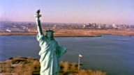 Statue of Liberty Aerial video