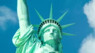 Statue of Liberty - Close-up with Visitors in Crown video