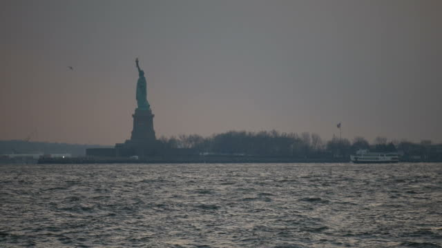 Statue of Liberty from afar video