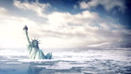Statue Of Liberty In Rising Sea Levels video