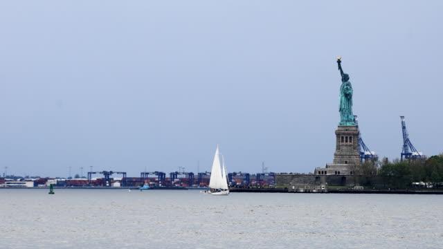 Statue of Liberty off of Manhattan, New York video