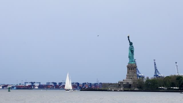 Statue of Liberty off of Manhattan video