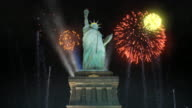 Statue Of Liberty With Fireworks video