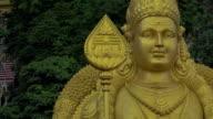Statue of Murugan at Batu Caves, Malaysia video