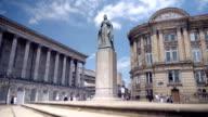Statue of Queen Victoria, Birmingham, England. video