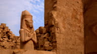 Statue of Ramses II from Karnak Temple, Luxor Egypt video