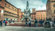 Statue of the god Neptune, Bologna Italy video