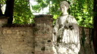 Statue of young medieval woman video