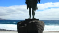 Statues of Guanches in Tenerife. Canary islands. Spain. video
