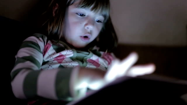 Staying Up Late With Digital Tablet video