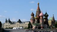 St.Basil's Cathedral and GUM in Moscow video