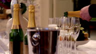 Steadily pouring champagne video