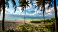Steadycam shot of perfect tropical beach in Varadero, Cuba video