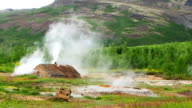 Steam Cabin in geothermal field at Huakadalur Village video