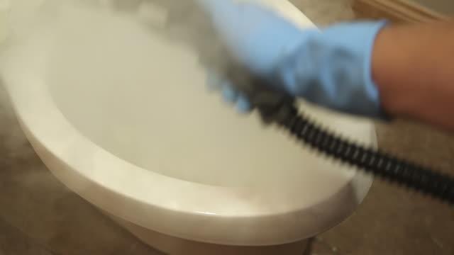 Steam Cleaning Bathroom Toilet video