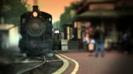 Steam Engine Train at Depot video