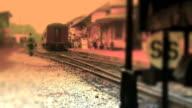 Steam Engine Train Backs Up At Station - Color video