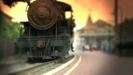 Steam Engine Train Leaves Station video