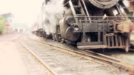 Steam Engine Train Waits at Station video