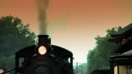 Steam Engine Train Waits at Station #4 video