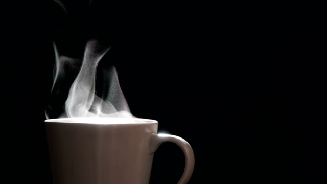 Steam from a Cup with Boiling Water video