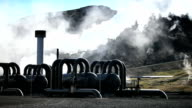 Steam From Geothermal Power Plant video