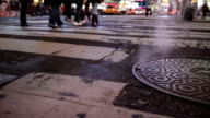 Steam from manhole in NYC video
