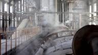 Steam in industrial plants video
