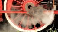 Steam locomotive wheels video