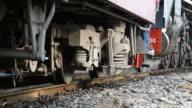 Steam train at State Railway of Thailand 119 years anniversary video