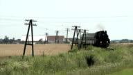 Steam train in Poland video