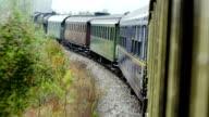 Steam train journey video