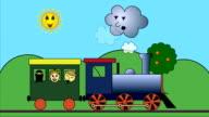 Steam train on road video