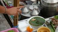steamed tapioca dumpling with pork, floating market, Thailand video