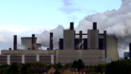 T/L Steaming Coal-fired Power Station Close To Residential Houses video