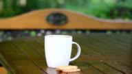 steaming coffee cookie video