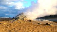 Steaming fumaroles  at Hverir geothermal area video