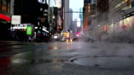 Steaming Manhole Midtown Manhattan NYC New York City Steam Smoke video