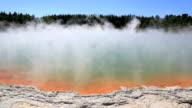 Steaming Water at Champagne Pool, Waiotapu Thermal Reserve, Rotorua video