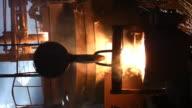 steel mill vertical video