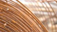 Steel rods rusty video
