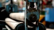 Steel rolling machine. video