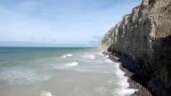 Steep cliffs near Calais, France video