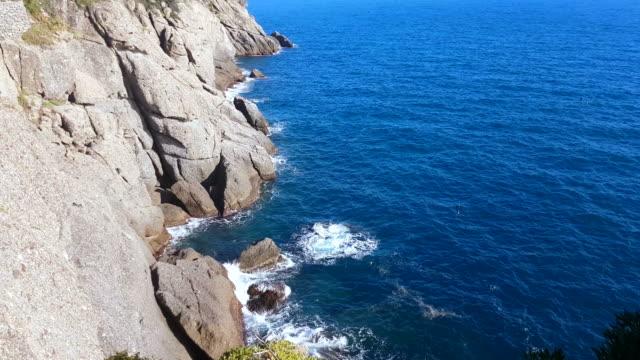 Steep Cliffs of the Ligurian Sea in Portofino video