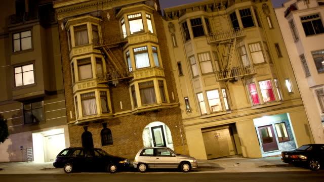 Steep San Francisco street time lapse video