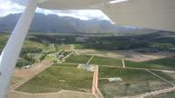 Stellenbosch Winelands from a plane video