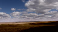Steppe. Time lapse video